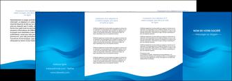 faire modele a imprimer depliant 4 volets  8 pages  web design bleu fond bleu bleu pastel MIF77065