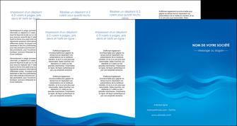 faire modele a imprimer depliant 4 volets  8 pages  web design bleu fond bleu bleu pastel MIF77069