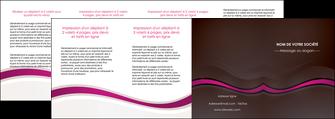 imprimer depliant 4 volets  8 pages  web design violet fond violet marron MIF77087