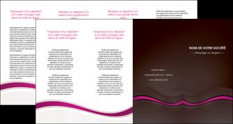 modele en ligne depliant 4 volets  8 pages  web design violet fond violet marron MIF77089
