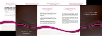 personnaliser modele de depliant 4 volets  8 pages  web design violet fond violet marron MIF77093