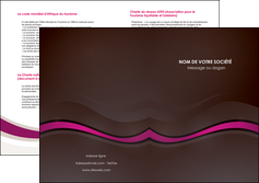 imprimer depliant 2 volets  4 pages  web design violet fond violet marron MIF77095