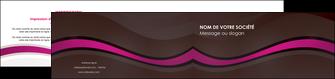 imprimerie depliant 2 volets  4 pages  web design violet fond violet marron MIF77099