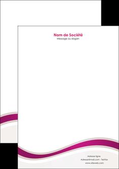 modele en ligne tete de lettre web design violet fond violet marron MIF77103