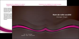personnaliser maquette depliant 2 volets  4 pages  web design violet fond violet marron MLGI77105