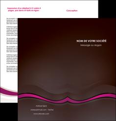 creer modele en ligne depliant 2 volets  4 pages  web design violet fond violet marron MIF77107