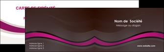 impression carte de visite web design violet fond violet marron MIF77119