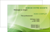 faire carte de visite graphisme texture double couleur vert fonce MLIP7711