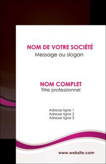 creer modele en ligne carte de visite web design violet fond violet marron MIF77121