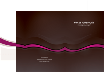 impression pochette a rabat web design violet fond violet marron MIF77125