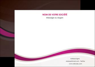 modele en ligne affiche web design violet fond violet marron MIF77131