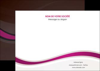modele en ligne affiche web design violet fond violet marron MIF77135