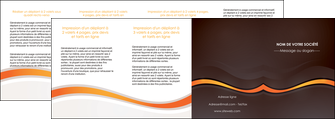 faire depliant 4 volets  8 pages  web design orange gris texture MIF77191