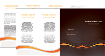 modele depliant 4 volets  8 pages  web design orange gris texture MIF77193