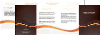 cree depliant 4 volets  8 pages  web design orange gris texture MIF77197