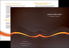 faire modele a imprimer depliant 2 volets  4 pages  web design orange gris texture MIF77199