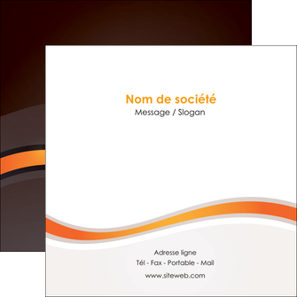 personnaliser modele de flyers web design orange gris texture MIF77205