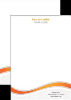personnaliser modele de tete de lettre web design orange gris texture MIF77207
