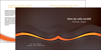 impression depliant 2 volets  4 pages  web design orange gris texture MIF77209