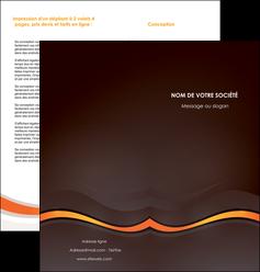 faire modele a imprimer depliant 2 volets  4 pages  web design orange gris texture MIF77211