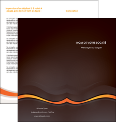 faire modele a imprimer depliant 2 volets  4 pages  web design orange gris texture MIF77211