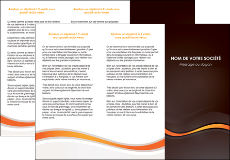 faire depliant 3 volets  6 pages  web design orange gris texture MLGI77213