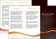 faire depliant 3 volets  6 pages  web design orange gris texture MIF77213
