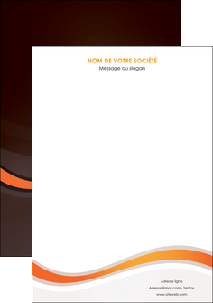 realiser affiche web design orange gris texture MIF77217