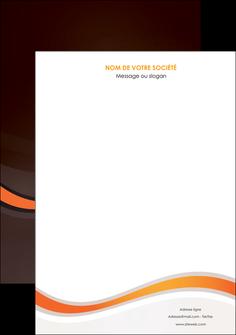 impression affiche web design orange gris texture MIF77219