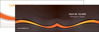 maquette en ligne a personnaliser carte de visite web design orange gris texture MIF77223
