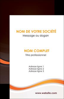 modele en ligne carte de visite web design orange gris texture MIF77225