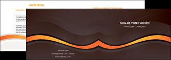 imprimer depliant 2 volets  4 pages  web design orange gris texture MIF77231
