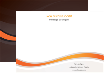 creer modele en ligne affiche web design orange gris texture MIF77239