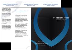 faire depliant 3 volets  6 pages  web design noir fond noir bleu MLGI78683