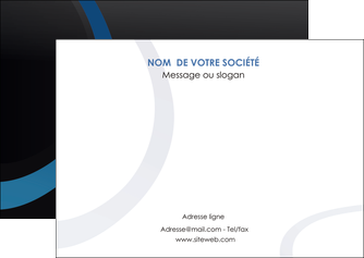 impression flyers web design noir fond noir bleu MLGI78685