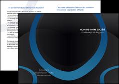 creer modele en ligne depliant 2 volets  4 pages  web design noir fond noir bleu MLGI78697