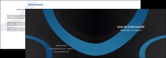 realiser depliant 2 volets  4 pages  web design noir fond noir bleu MLGI78701