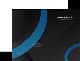 modele pochette a rabat web design noir fond noir bleu MLGI78705