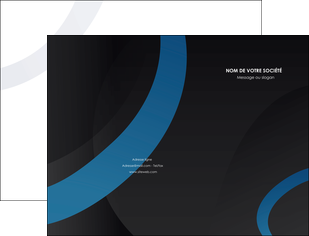 faire pochette a rabat web design noir fond noir bleu MLGI78707