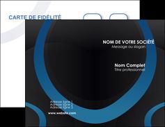 imprimerie carte de visite web design noir fond noir bleu MLGI78709
