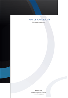 personnaliser modele de affiche web design noir fond noir bleu MLGI78713
