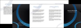 creer modele en ligne depliant 4 volets  8 pages  web design noir fond noir bleu MLGI78721