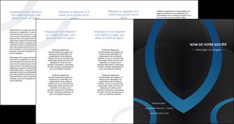 personnaliser maquette depliant 4 volets  8 pages  web design noir fond noir bleu MLGI78725
