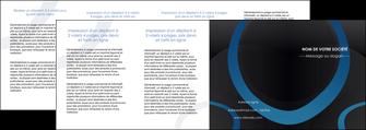 creer modele en ligne depliant 4 volets  8 pages  web design noir fond noir bleu MLGI78727