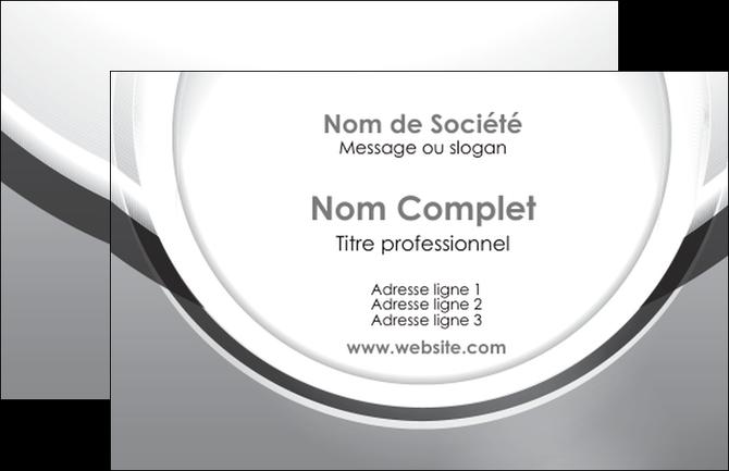 modele en ligne carte de visite web design gris fond gris rond MIF78949