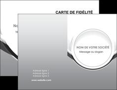 modele carte de visite web design gris fond gris rond MIS78959
