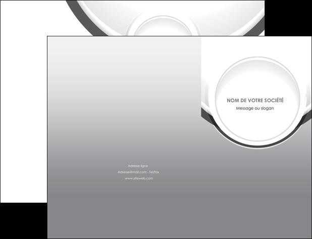 imprimerie pochette a rabat web design gris fond gris rond MLIG78961