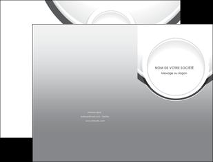 imprimerie pochette a rabat web design gris fond gris rond MIS78961