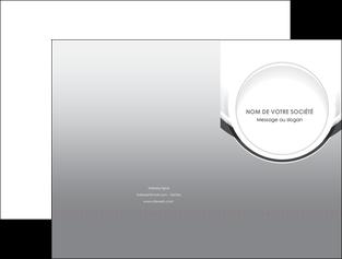 faire modele a imprimer pochette a rabat web design gris fond gris rond MIS78963