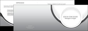 realiser depliant 2 volets  4 pages  web design gris fond gris rond MLIG78967